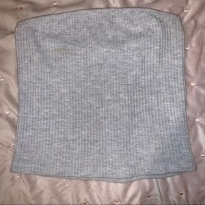 Brandy Melville gray rubbed tube top
